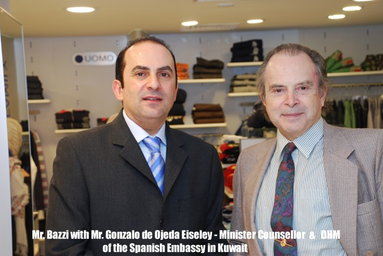 Sami Bazzi with Mr.Gonzalo de Ojeda